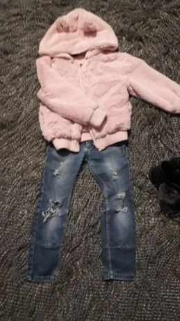 курточка, шубка-меховушка фирмы George, джинсы