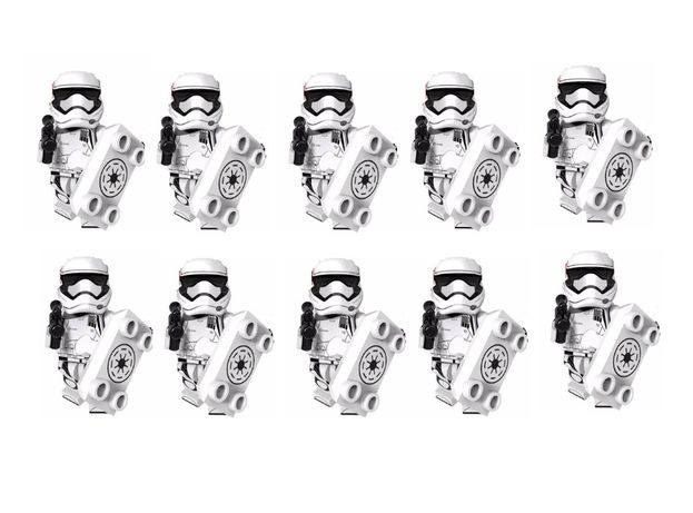 Bonecos minifiguras Star Wars nº43 -10 Riot Trooper -compativeis Lego