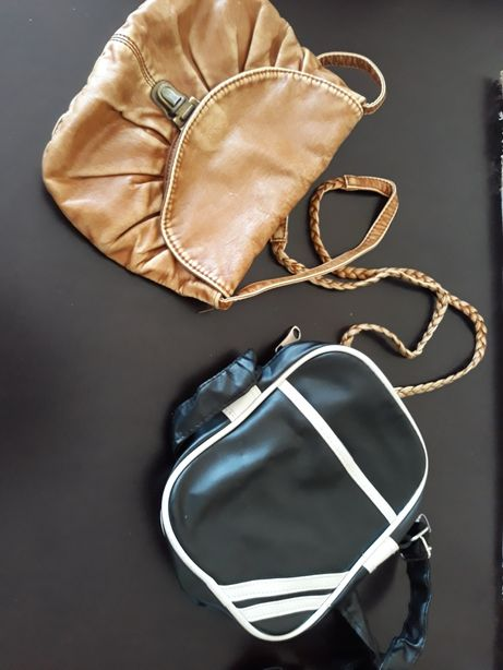 Zestaw torebek - skorzana i adidas
