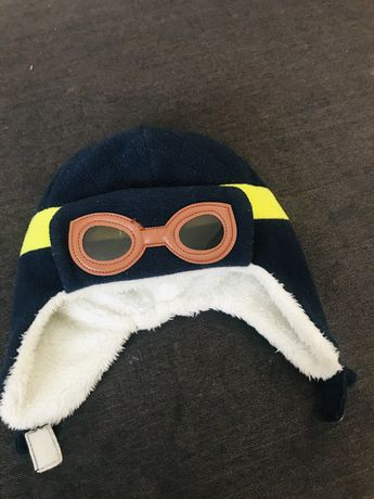 Зимняя шапка на мальчика. Теплая шапка ушанка.