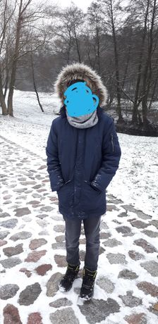 Kurtka granatowa zimowa dla chłopca HM 140 9-10 lat