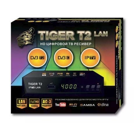 TIGER T2 IPTV LAN 100Mb Металл - DVB-C/T/T2 Ресивер T2-TV с лан портом