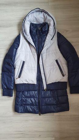 Куртка (пальто) + жилет 2 в 1 демисезон (еврозима)