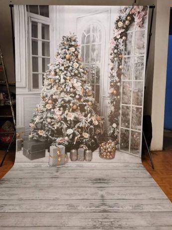 Tło fotograficzne świąteczne studio 160x300cm