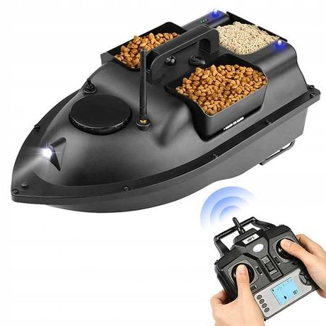 Łódka ZANĘTOWA V18GPS GPS 500m z 3 pojemnikami