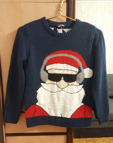 Новогодний музыкальный свитер зимний