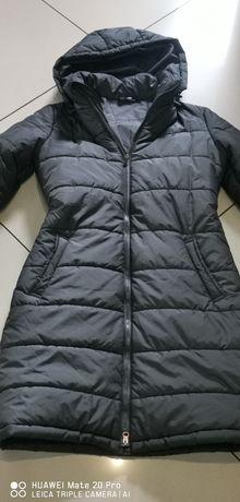 Płaszcz damski pikowany jesień zima rozmiar S-M st. b dobry cena ost.