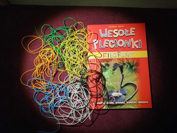 """ZESTAW książka """"FILOFUNY, wesołe plecionki"""" + kolorowe kabelki (żyłki)"""