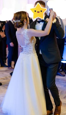 Romantyczna suknia ślubna rozm. 34
