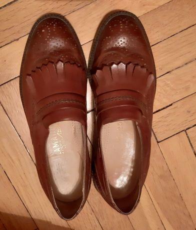 Buty brązowe męskie skórzane Salamander