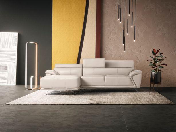 Sofa Chaiselong em Pele
