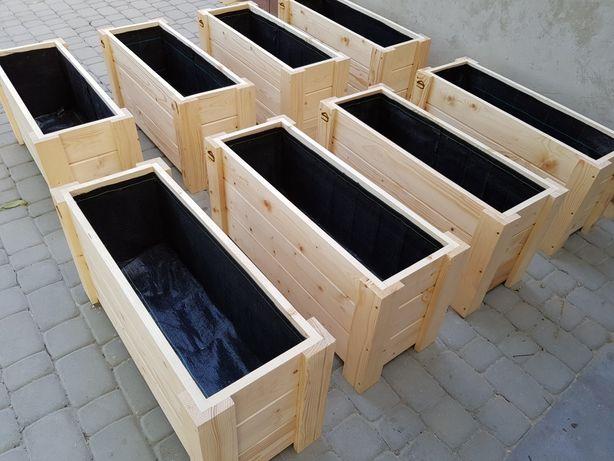Nr3. Doniczki Drewniane, tarasy, altanki, 80x30x40h donica kwadratowa