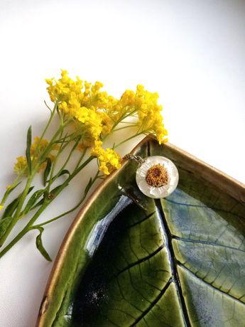 Кулон зі справжньою квіткою всередині, сфера