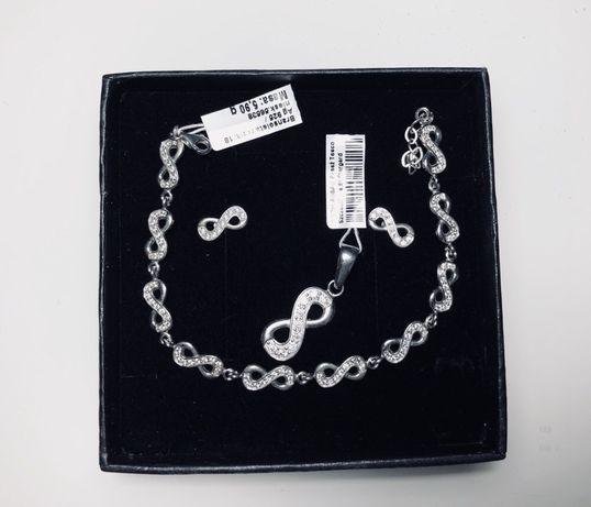 Apart biżuteria kolczyki prezent srebro zestaw