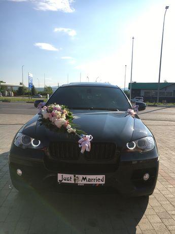 Оренда авто на Ваше весілля BMW X6, перевезення пасажирів