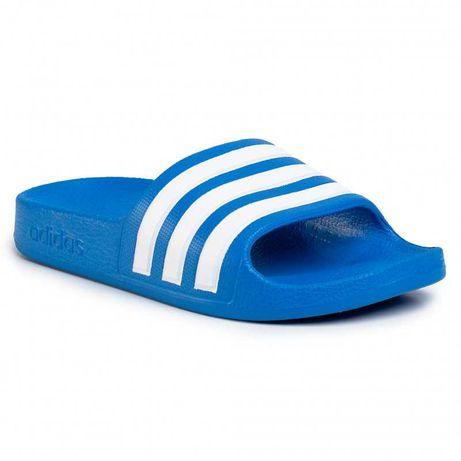 Adidas  Aqua niebieskie klapki paski Unisex 37