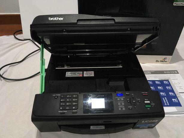 Impressora Brother + 4 tinteiros novos