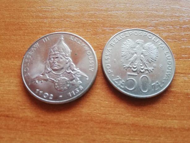 Moneta 50 złotych Bolesław III Krzywousty(2sztuki)