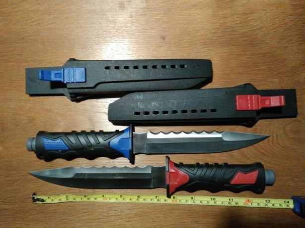 Dwa noże nurka, stal 440