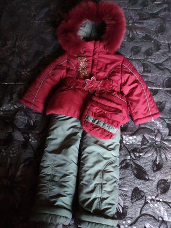 Зимний костюм для девочки.86.