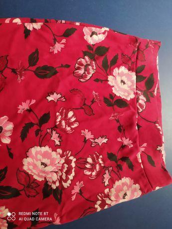 Spódnica w kwiaty do kolan