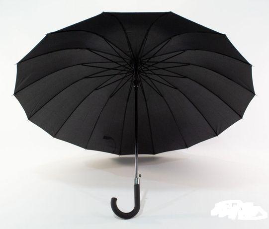 """Надежный мужской зонт трость """"FLAGMAN"""" Антишторм"""" в чехле - 16 спиц."""