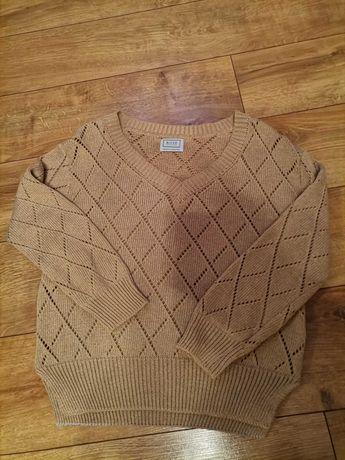 Piękny sweter w romby wysoka jakość nowy