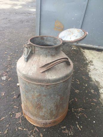 бідон 40л, металевий, ємність для зберігання речовин