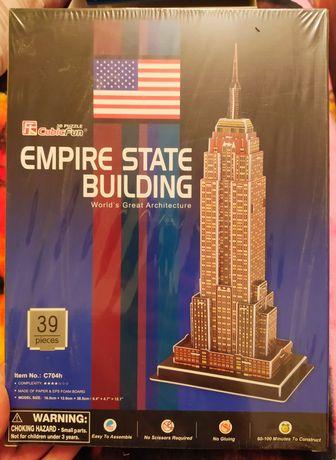 Drewniane puzzle przestrzenne Empire State Building nowe