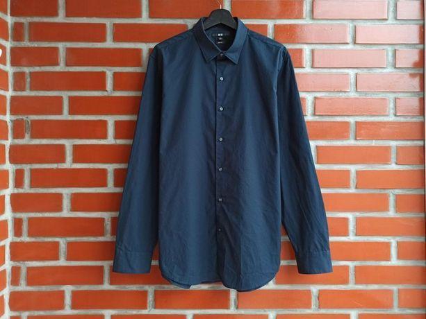 Uniqlo мужская синяя рубашка размер L
