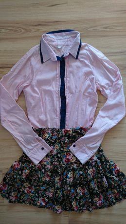 Zestaw koszula elegancka + spódniczka