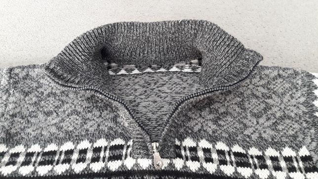 Swetr wełniany męski L