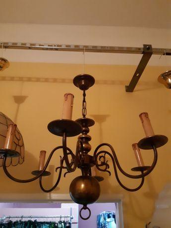 Lampa - żyrandol mosiężny