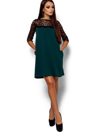 Платье темно зелёного цвета
