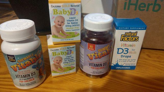 вітамін Д іherb,для дорослих та дітей