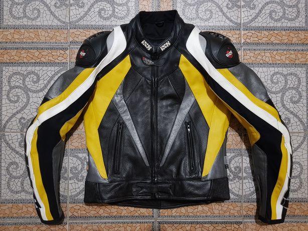 Чоловіча, мужская, шкіряна, кожаная мотокуртка, мото куртка IXS (50)