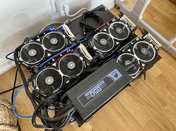 Mining Rig - 4x MSI RX 570 4GB - 280MHs Ergo