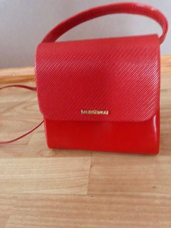 Laura Biaggi  torebka ekskluzywna czerwona mała