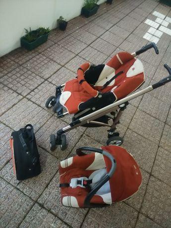 Carrinho de bebê usado com  babycoque e mala