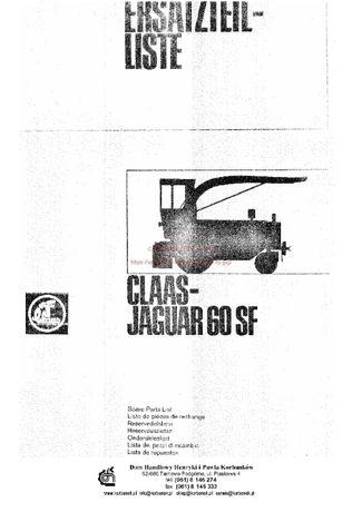 Katalog części kombajn claas jaguar 60