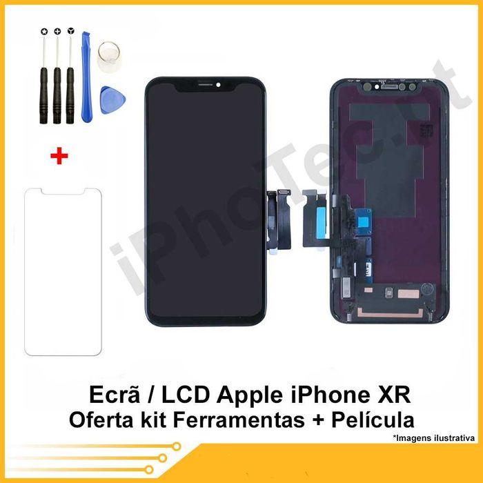 ECRÃ / TOUCH + LCD iPhone XR oferta película + kit ferramenta Cacém E São Marcos - imagem 1