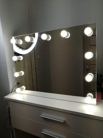 Lustro do makijażu 80x60 make UP Hollywood z żarówkami Led toaletka