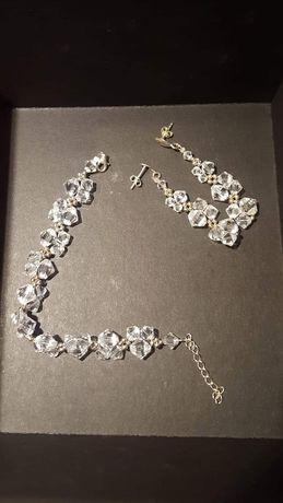 Komplet: Biżuteria ślubna i ozdoba do włosów