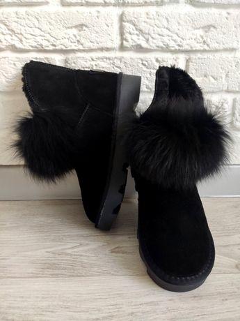 Ugg / Угги женские зимние черный цвет.Любой размер.
