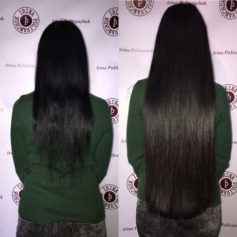 Наращивание волос, нарощення волосся.