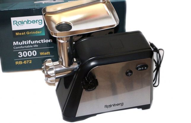 Новая мясорубка + соковыжималка Rainberg 672 /3000Вт /электромясорубка