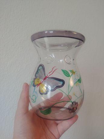 Yankee Candle szklany kominek do wosków wiosenny motyl motyle kwiaty