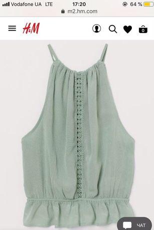 Новая блуза майка h&m, размер С