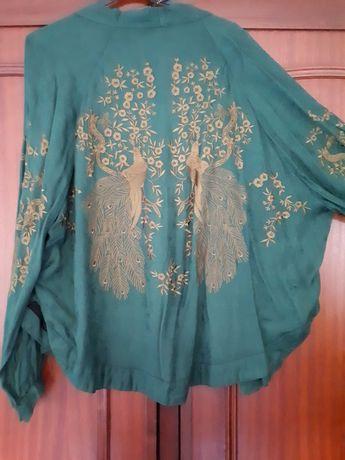 Kimono Bordado a Dourado