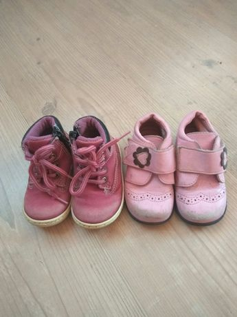 Ботинки туфли глубокие полусапожки детские кожаные
